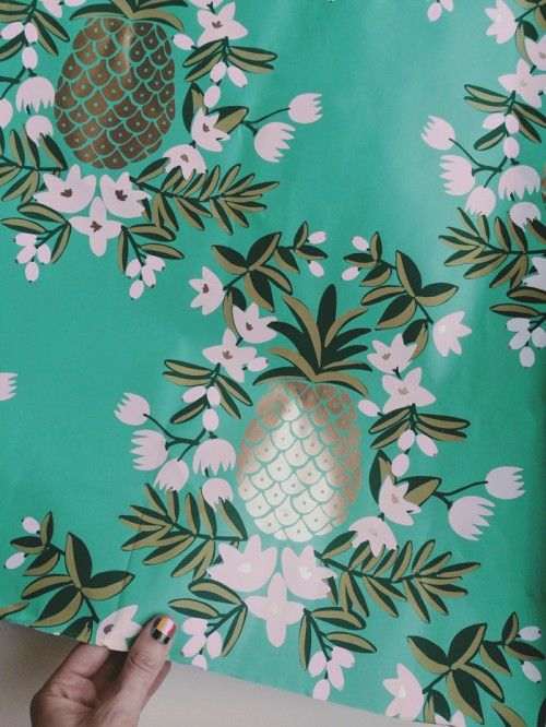Color sample from Rifle Paper Co's upcoming wallpaper collection with Hygge & West