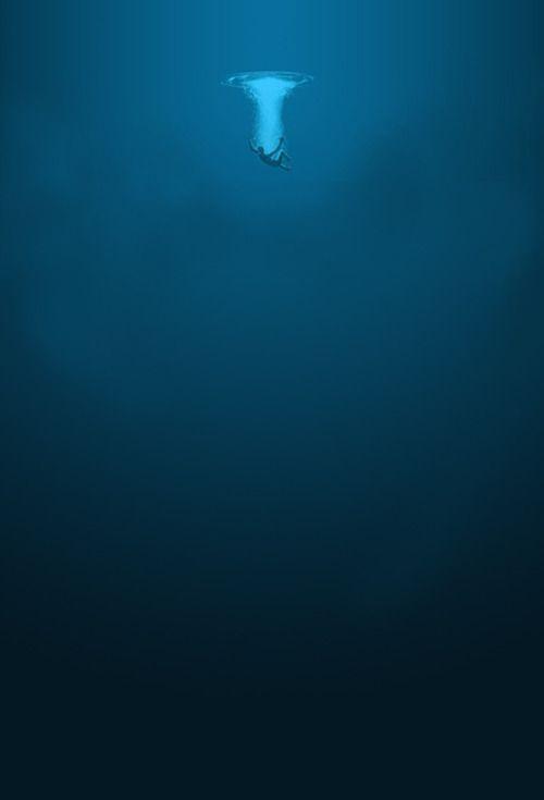 deep blue.