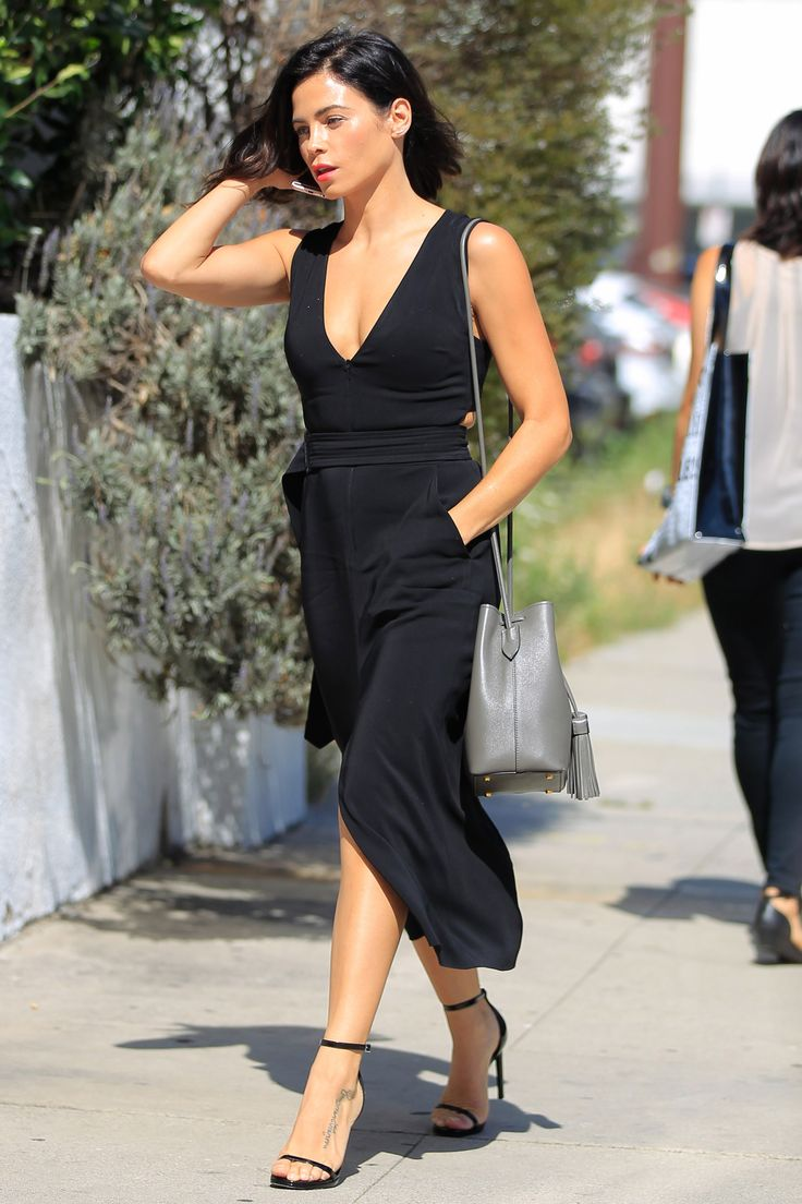Black dress in summer - 23 June Jenna Dewan Tatum Looked Elegant In A Simple Black Summer Dress And Strappy Sandals