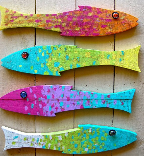 houten vissen