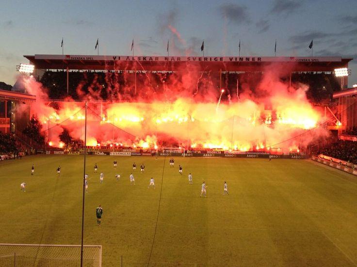 AIK STOCKHOLM - Malmö FF 2012. Last game at the famous Råsunda Footballstadium