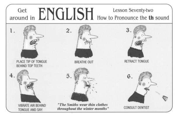 pronunciare il suono th in inglese - txt