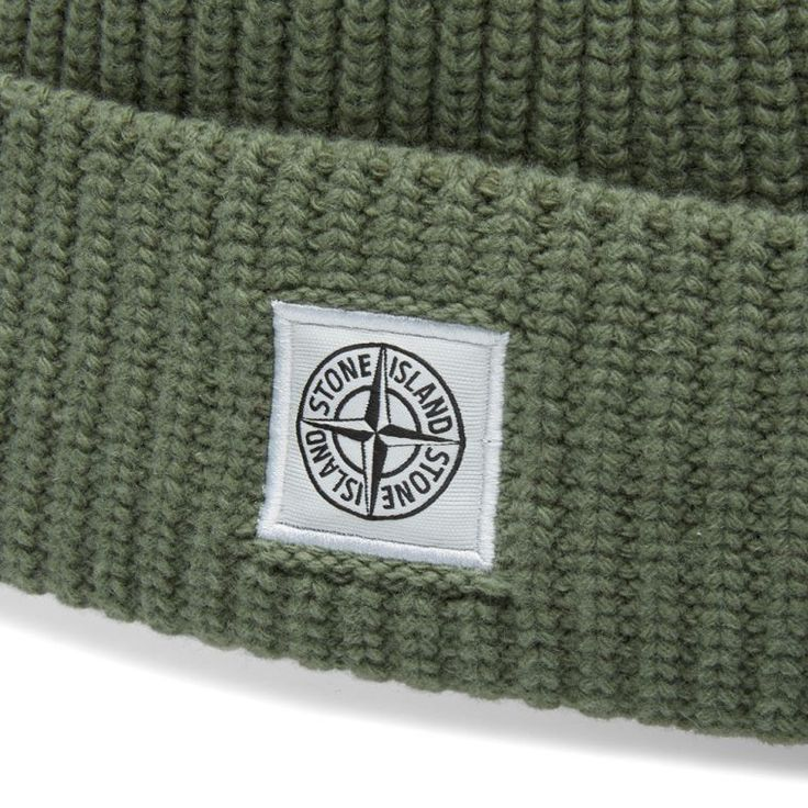 Knitted from a soft wool-blend with a wide rib stitch, Stone Island's Lambswool Beanie hat is signed off simply with their iconic compass patch to the front. Wool Blend Ribbed Knit Compass Patch Style Code: 6715-N26A7-V0055
