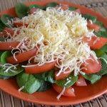 Весенний салат со шпинатом
