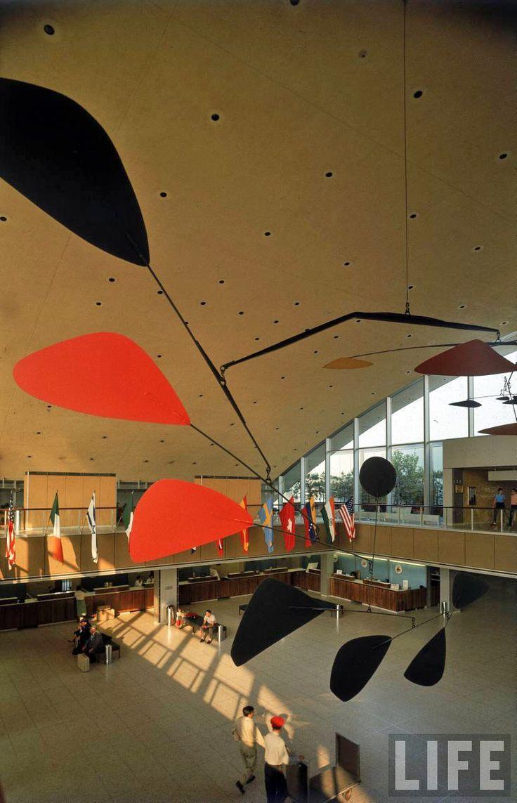 Flight status jfk -  Flight By Alexander Calder At The International Arrivals Building Vintage Photographs Of Idlewild