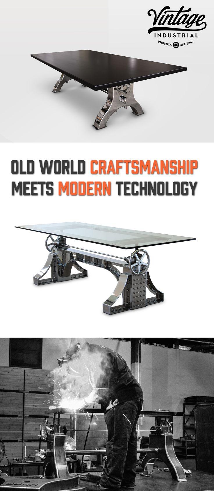 Post industrial conference table vintage industrial furniture - Helicoid Table Vintage Industrial Furnitureconference
