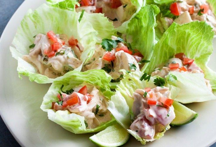 Smoky Crayfish/Lobster Salad Cups #justeatrealfood #nadialim