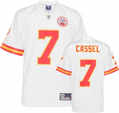 Reebok Kansas City Chiefs Matt Cassel 7 White Authentic Jersey Sale