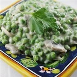 This is an great side with mashed potatoes and chicken!  Company loves this one and so does my husband.  Not the boring everyday plain peas. These peas are combined with mushrooms and onion in a savory cream sauce.