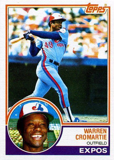 1983 Topps 495 Warren Cromartie