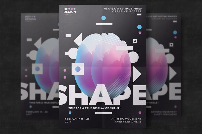 Creative Abstract Poster Template By Eightonesixstudios On Creative Poster Design Creative Posters Poster