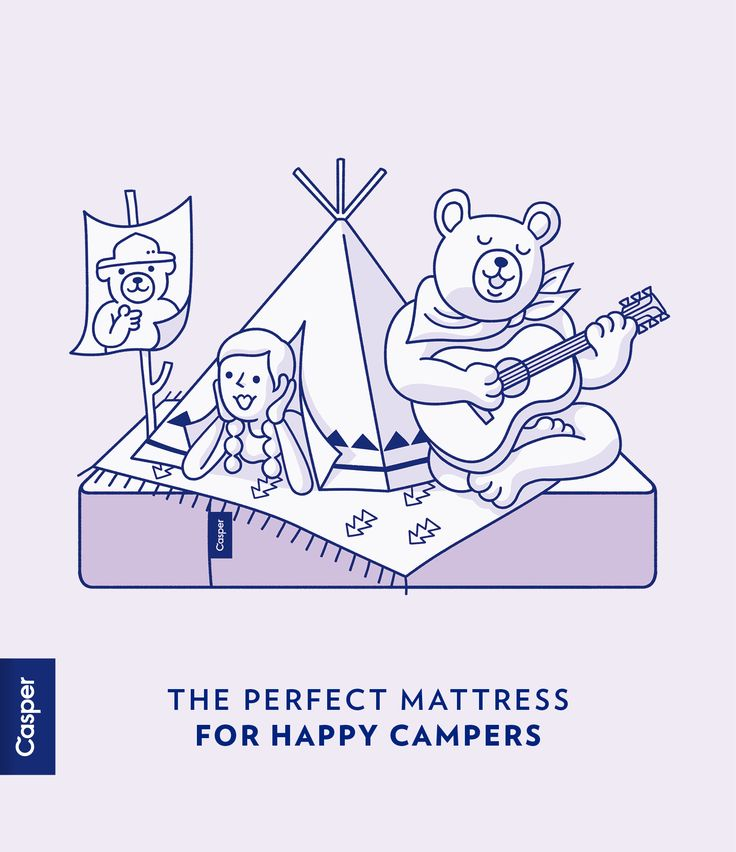 Casper: the perfect mattress for happy campers.