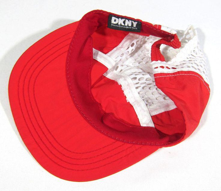 90S DEADSTOCK VTG DKNY MESH PANEL HAT OG CAP NYC OPENING CEREMONY DONNA KARAN | eBay