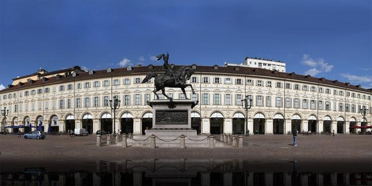 Piazza San Carlo, #Torino. Foto panoramica della Redazione Web della Città di Torino