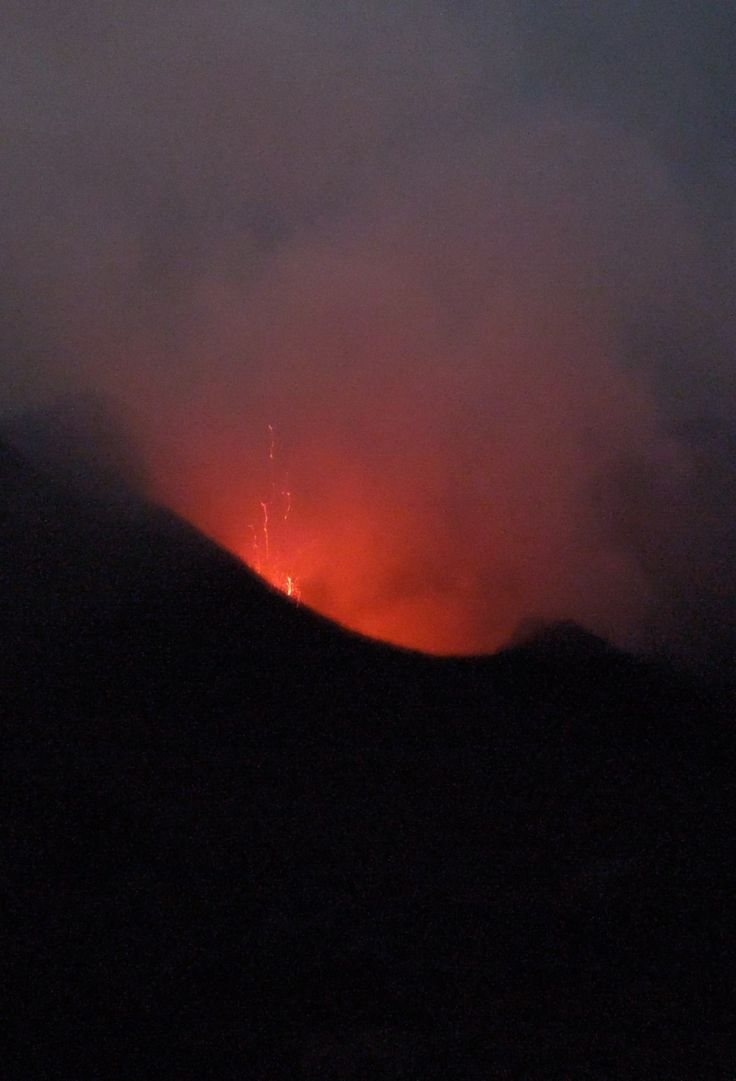 Stromboli eruption, Aeolian Islands, Sicily.