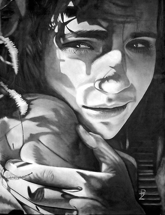 Rachel 80x120, oil on canvas autor: Petr ZEMAN, Czech republic, Vrchlabí 2009 - SOLD