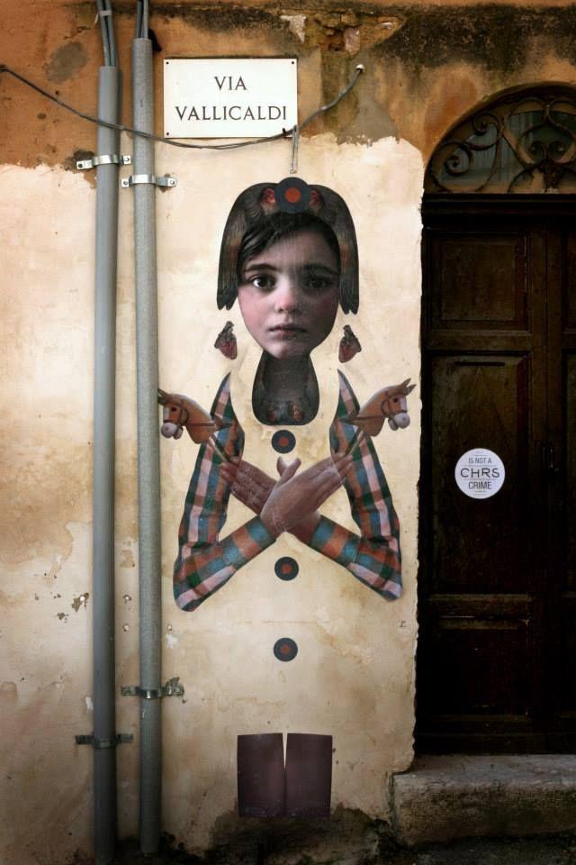 Poster art at Vallicaldi Open Street  #ChromeSurgery #streetart #posterart #streetartSicily #digitalcomposition #colla #brattychildren #centrostorico #nonsostare #Agrigento #morediscomfort