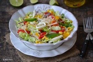Salata cu legume si calamari - Culinar.ro