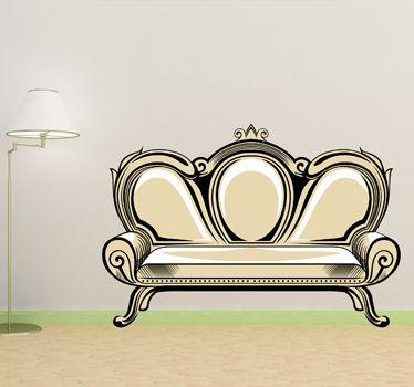 Vinilo decorativo sofá antiguo