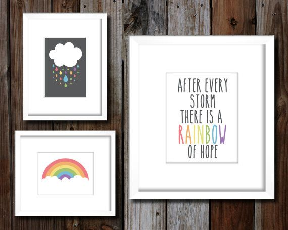 Printable Pastel Rainbow Baby Nursery Wall Art Pregnant After A Loss, Pregnant After Miscarriage, Rainbow Baby by DesignsByAlila