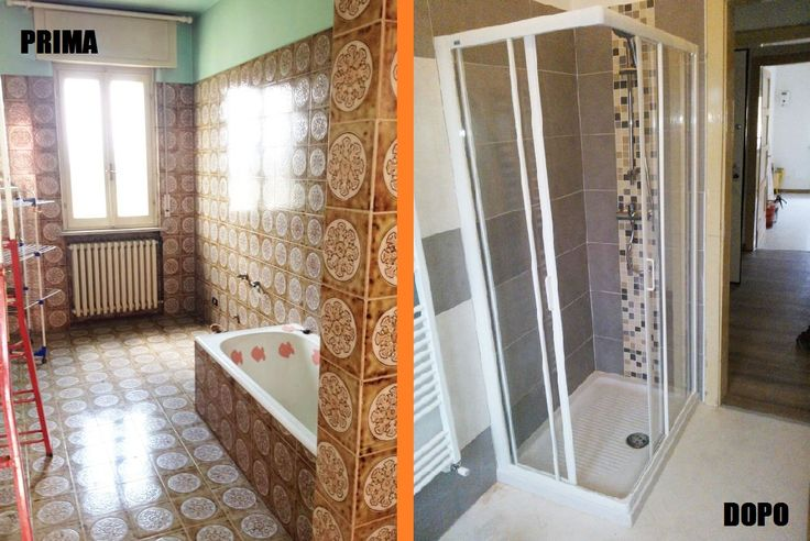 Rifacimento bagno con sostituzione vasca con doccia!