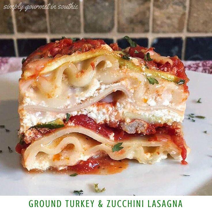 Ground Turkey & Zucchini Lasagna