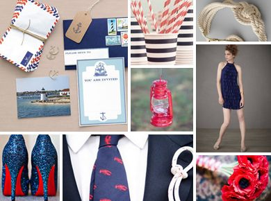 East Coast Prep: Nautical Nuptials, Nautical Style, Inspiration Board, Classic Nautical Themed, Nautical Themes, Wedding Ideas, Nautical Stuff, Beach Nautical Wedding, Knot