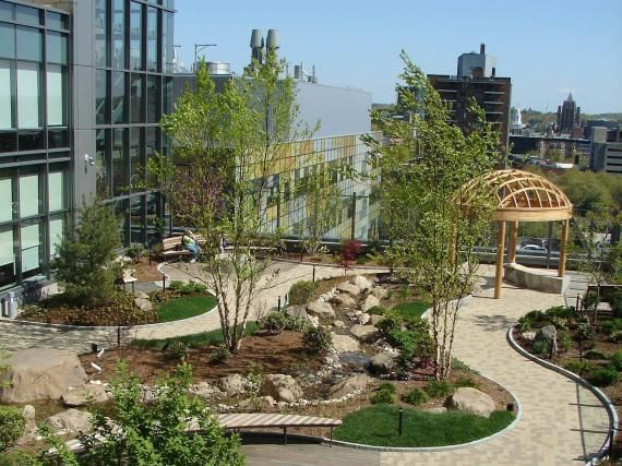 Healing Garden at Smilow Cancer Hospital