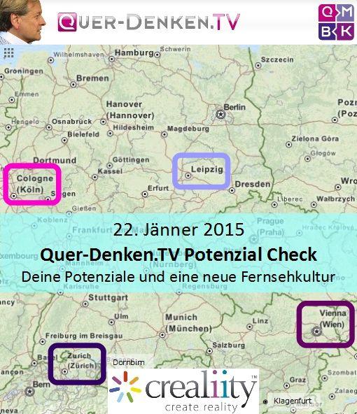 in diesen 4 Städten sind wir am 22. Jänner 2015 https://crealiity.com/querdenken.tv.php