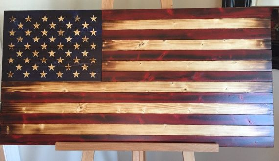 Rustic American Flag, Old Glory Flag, Wood American Flag, Flag Art, Sign, Wooden Flag,  American Flag Sign, Hand-carved Stars