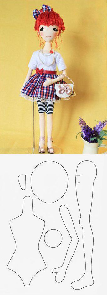 Fabric doll pattern