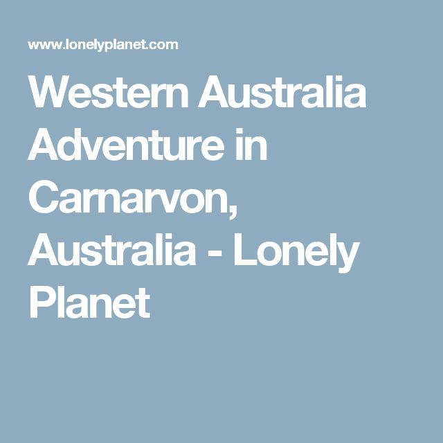 Western Australia Adventure in Carnarvon, Australia - Lonely Planet