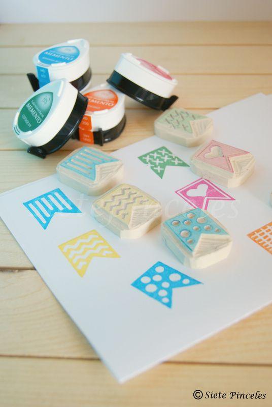 Carving Stamp carvado de sellos guirnalda marcadores