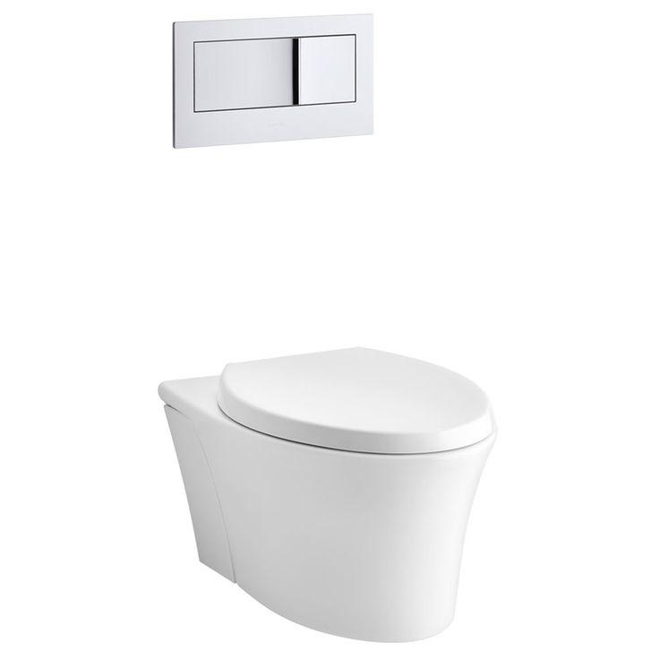 shop kohler veil white 1608gpf watersense elongated dualflush wall
