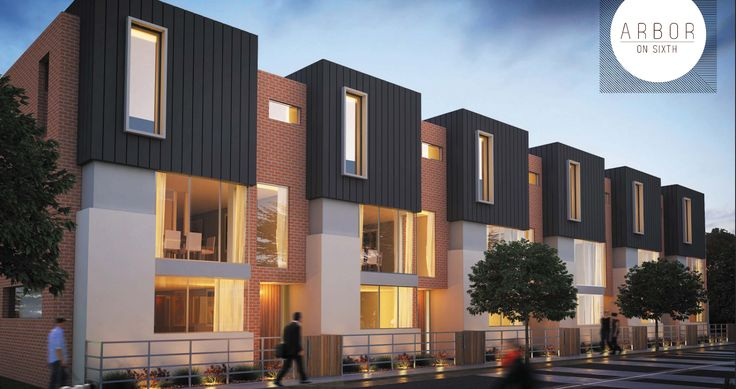 Arbor terraces in Adelaide create a open and attractive wall to the street.