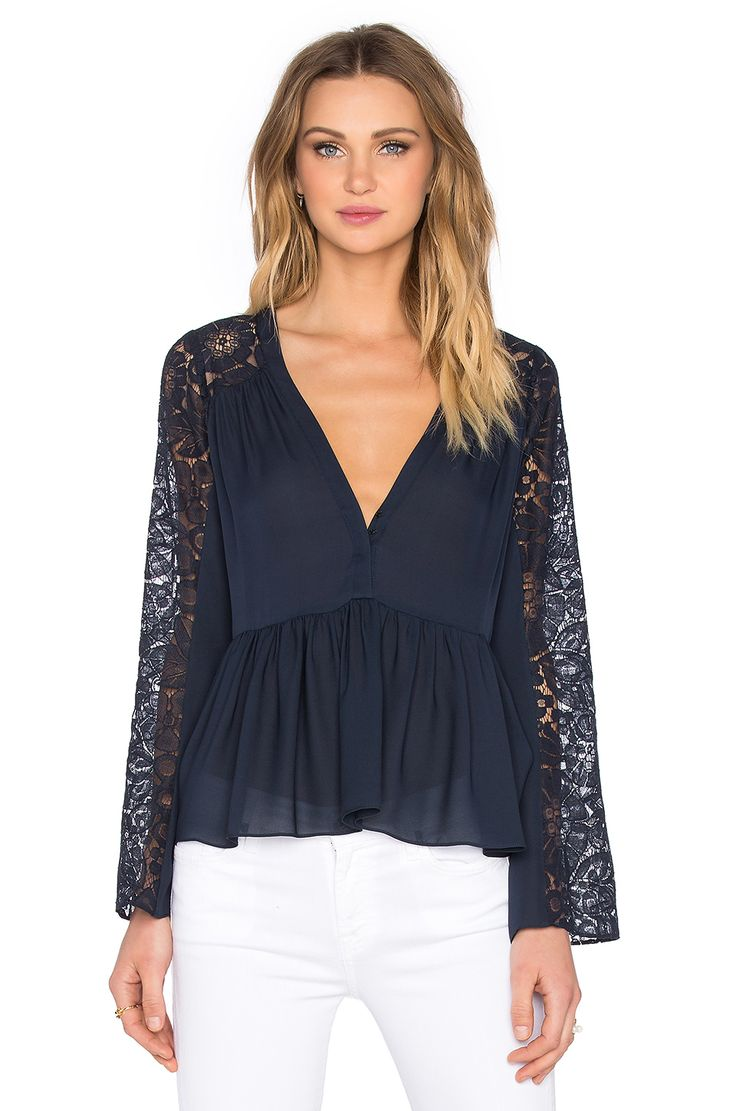 Elizabeth and James Lija Blouse in French Navy