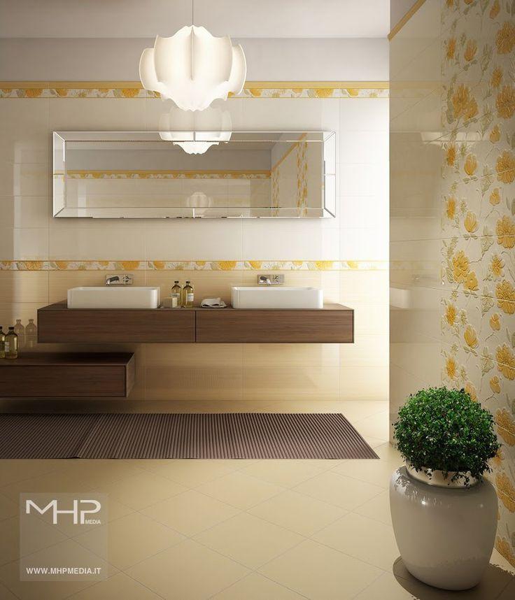 Yellow Bathroom by lolloide