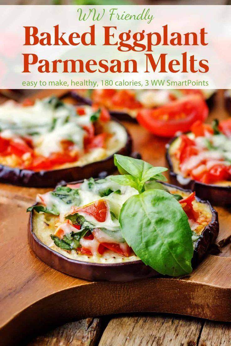 Skinny Eggplant Parmesan Melts Recipe Baked Eggplant Eggplant
