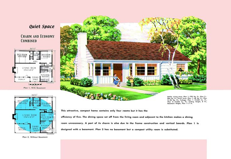 1940s and 50s house plans quiet space houses and floor for 1940 house plans