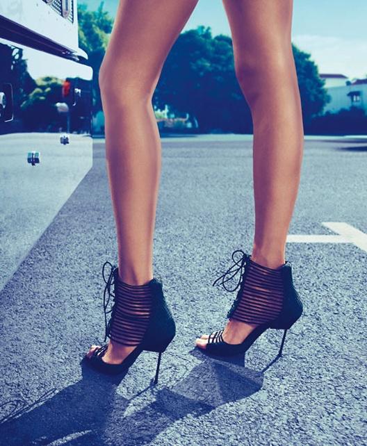 Lattice strap heels / Kurt Geiger