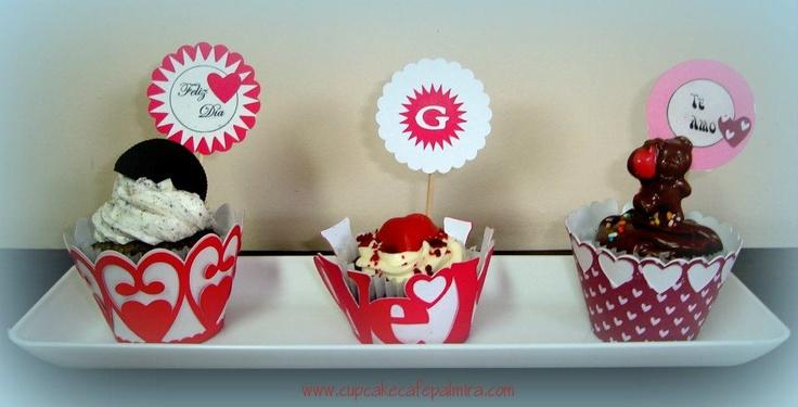 Cupcakes I ♥ U: Cupcakes Cafe, Cupcakes Rosa-Choqu
