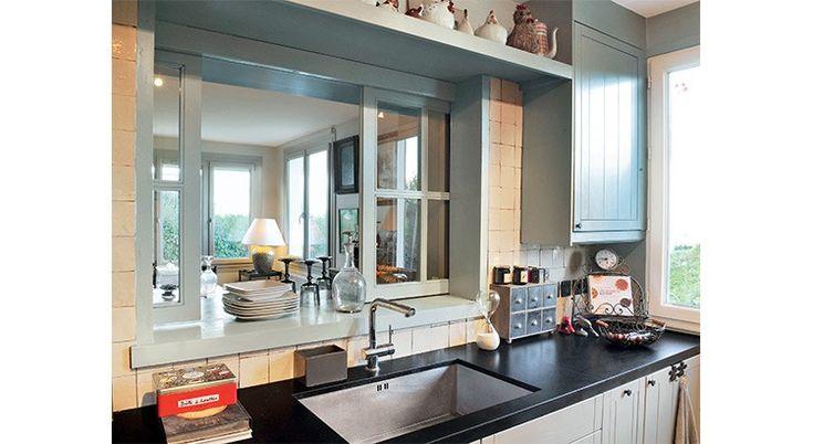 Top Cuisine ouverte : fenêtre et passe-plats. Démonstration. | Saints VK34