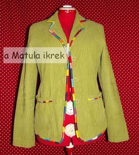 hímzéssel átalakított blézer - hand embroidered blazer refashion