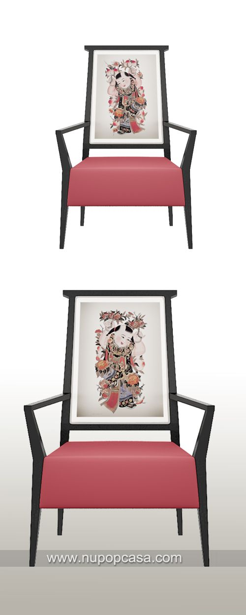 Modern chinese style dinning chair with for Asian furniture dc