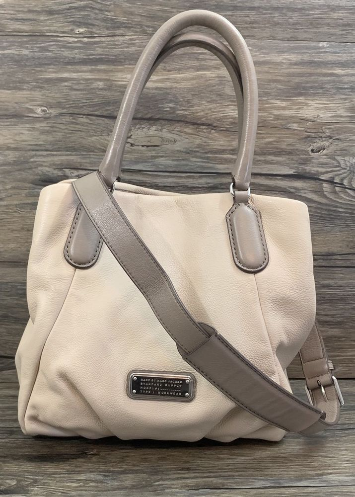 Marc By Marc Jacobs Crossbody Leather Bag Beige   MarcbyMarcJacobs   Crossbody 76bd6e2f1aec9