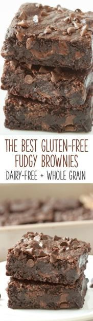 Fudgy, gooey, and incredibly easy to make, these really are the best gluten-free brownies! They can also be made with whole wheat for a non-GF version