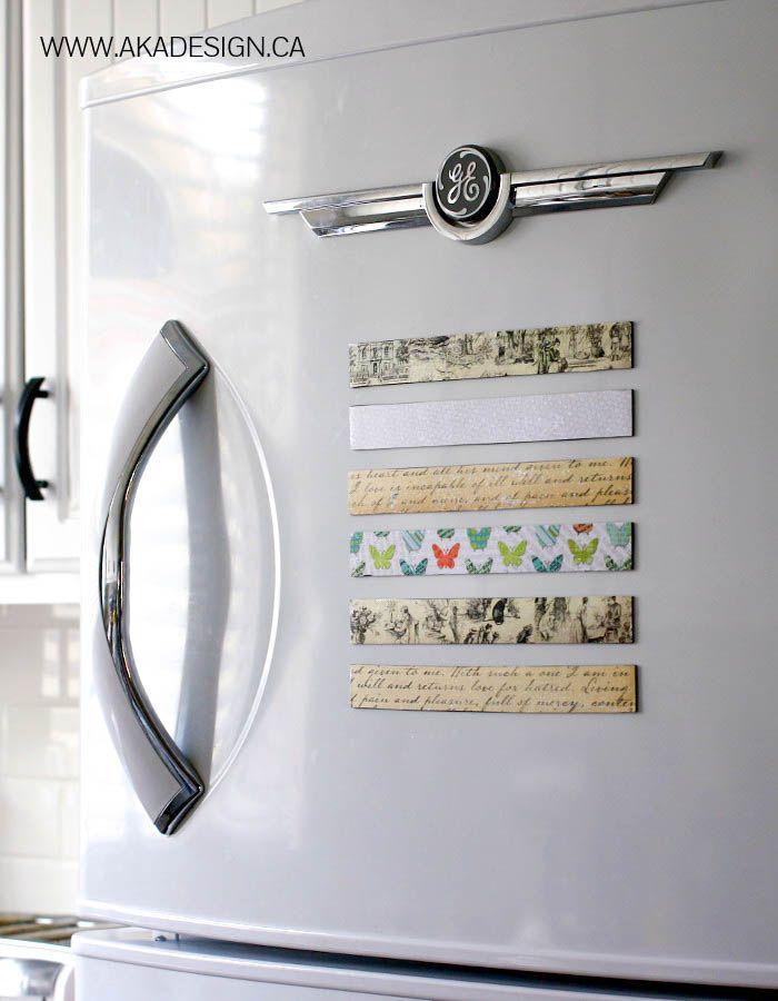 Super Cute, inexpensive and functional scrapbook magnets for the fridge! { lilluna.com }-2