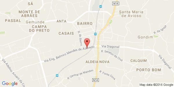 Árvore do Conhecimento - Centro de Estudos - Castêlo da Maia Mapa