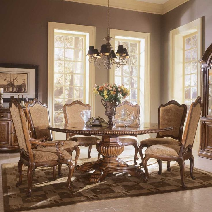 Formal Round Dining Room Tables Alluring Design Inspiration
