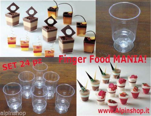 24 Bicchieri Calice cucina finger food Love festaTavola Buffet Accessori Ciotola